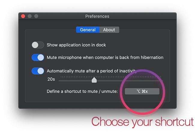 choose a custom keyboard shortcut
